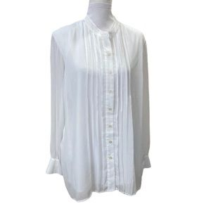 BOB Mackie Wearable Art White Tuxedo Shirt L